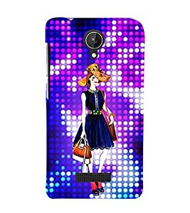 Air Hostress Girl 3D Hard Polycarbonate Designer Back Case Cover for Micromax Canvas Spark Q380