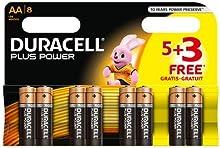 Comprar Duracell Plus Power - Pila alcalina AA ( 5 + 3 unidades gratis), 8 unidades