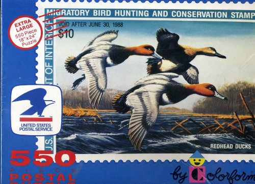 Migratory Bird Hunting and Conservation Stamp 550 Piece Postal Puzzle By Colorforms - 1