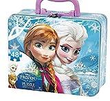 Disney Frozen Elsa & Anna Metal Lunch Box with 48-Piece Puzzle