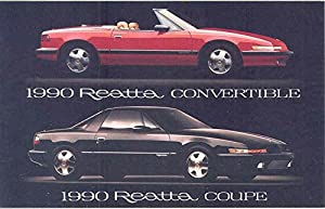 1990 Buick Reatta Convertible & Coupe ORIGINAL Factory Postcard