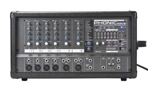Phonic Powerpod 620 Plus 200W 6-Channel Powered Mixer with DFX