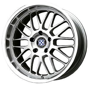 "Beyern Mesh Silver Machined Wheel (17x8""/5x120mm)"
