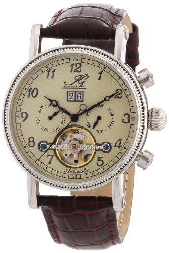 Ingraham Men's Automatic Watch Seville IG SEVI.1.200102 with Leather Strap
