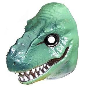 Green Plastic Dinosaur Face Mask