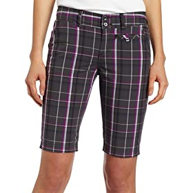 (超值)Columbia Long Short 哥伦比亚 女子 格纹 短裤 白色  $21.70