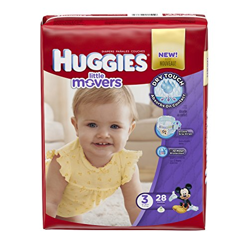 Huggies Little Movers Diapers - Size 3 - 28 ct (Huggies Size 3 Diapers compare prices)