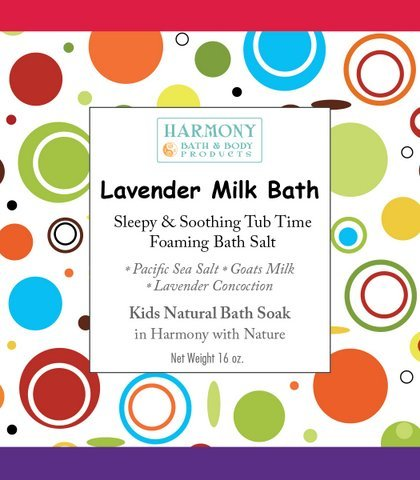 Lavender Milk Bath - Best Kids Bath Salt - Sleepy & Soothing Tub Time Foaming Bath Salt Soak - All Natural - 1