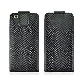 【YR】 IPhone6/IPhone6Sケース 大人気 ヘビ革模様 縦型 薄型 多機能 カードホルダー 薄型 軽量 耐衝撃 docomo au SoftBank アイフォン6sカバー アイフォン6携帯ケース レザーケース スマホケース 全5色 -黒