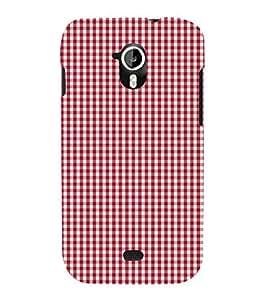 Small Red Checks Cute Fashion 3D Hard Polycarbonate Designer Back Case Cover for Micromax Canvas HD A116 :: Micromax A116 Canvas HD