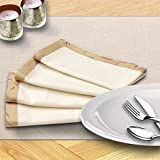 Milano Home Rose & Leaf Cream Set of 4 Napkins