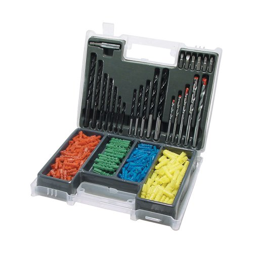 Silverline DS20 Drill Screwdriver Bit and Wall Plug Set approx. 300-Piece