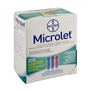 Microlet Lanzetten farbig 200 St.