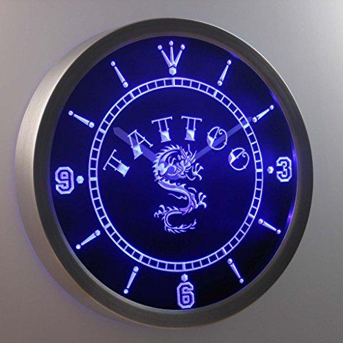 Nc0357-B Tattoo Chinese Dragon Ink Bar Beer Neon Sign Led Wall Clock