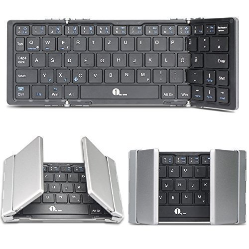 1byone faltbare, drahtlose Bluetooth QWERTZ Deutsche Tastatur