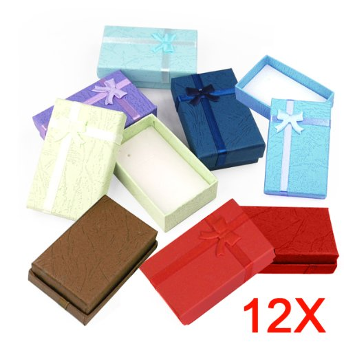 yahee 12x geschenkbox geschenkkarton aufbewahrungsbox schachtel schleife case schmuck box. Black Bedroom Furniture Sets. Home Design Ideas