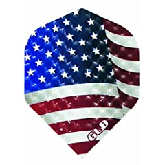 Buy 1 Set of 3 Dart Flights - 30-9082 - Dimplex USA Flag Standard Double Thick Dimpled Flights by Dart Brokers
