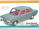 1969 Fiat 125 Sales Brochure German