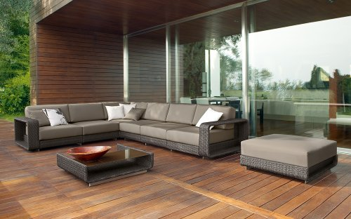 ELB Outdoor Santa Ana All-weather Wicker Sectional picture