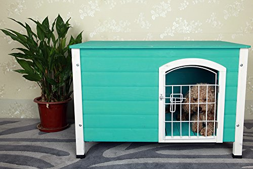 ... Petsfit 31Lx21Wx21H Indoor Dog House Wooden With Door  ...