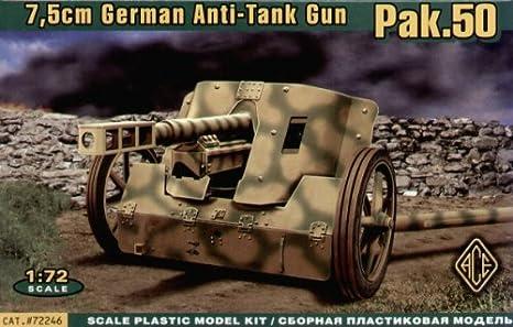 Maquette Canon anti-chars allemand 7.5cm PaK 50, 2ème GM 1943