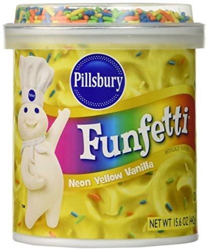 Pillsbury Funfetti Neon Yellow Flavored, Vanilla, 15.6 Ounce (Funfetti Icing compare prices)