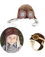 New Winter Baby Aviator Earflap Pilot Cap-brown