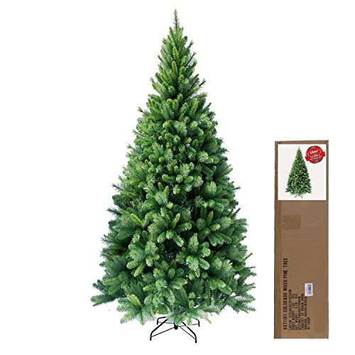 RS Trade GmbH HXT 1101 210 cm (7ft) artificial Christmas tree incl. metal stand, exclusive and high quality, hard