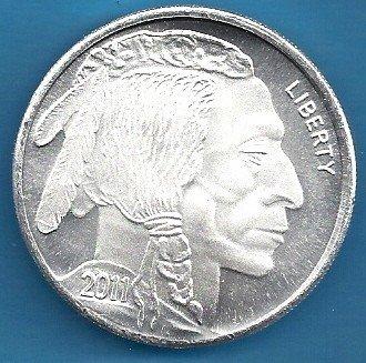 Buffalo Design 1 oz (.999) Fine Silver Round