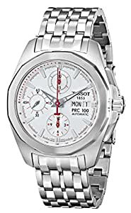 Tissot Men's T008.414.11.031.00 PRC100 Silver Dial Chronograph Watch