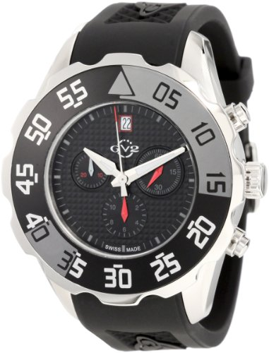 GV2 by Gevril Men's 3004R Parachute Chronograph Rubber Date Watch