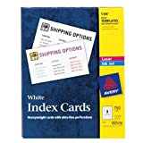 Avery Laser & Ink Jet White 3 x 5 Inch Index Cards 150 Count (5388)