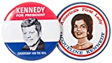 John F. Kennedy For President and Jackie Kennedy 1960 Campaign Historical Replica Pin Button 1.5