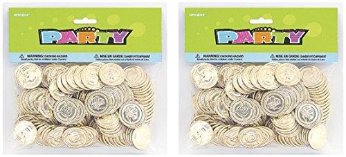 Plastic Gold Treasure Coins, 144ct (2)