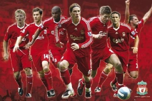 Posters: Soccer Poster – FC Liverpool, Players 08/09 (36 x 24 inches)