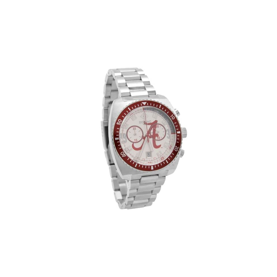 Fossil Alabama Crimson Tide Mens Stainless Steel Zodiac Sport Watch