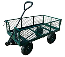 "Big Sale Sandusky Lee CW3418 Steel Crate Wagon, Green, 400 lb. Load Capacity, 21-3/4"" Height x 34"" Length x 18"" Width"