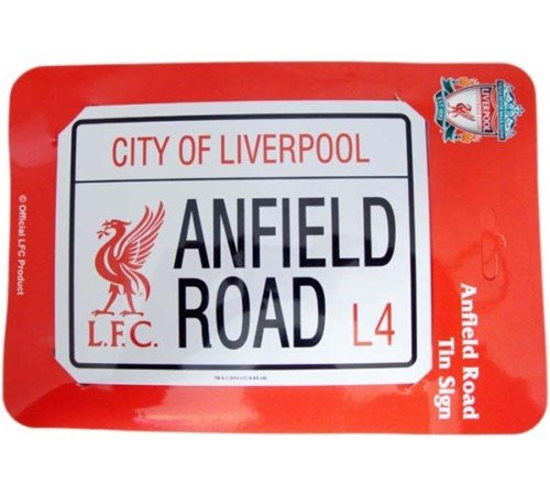 official liverpool fc LFC anfield road mini tin road sign