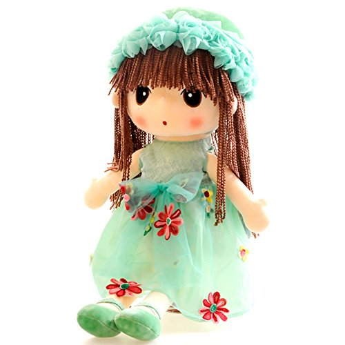 USATDD Flower Fairy Girl Stuffed Plush Doll Soft Dolly Huggable Toy Dress Best Gift 18