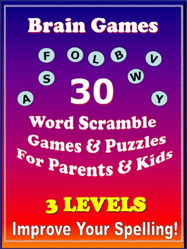 Brain Games & Puzzles: Word Scramble Brain Games - For Parents & Kids -Increase Cognitive Spelling Skills - Fun 3 Level Game