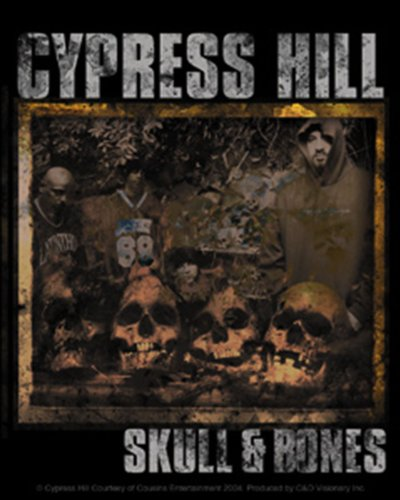 Licenses Products Cypress Hill Skull and Bones Sticker