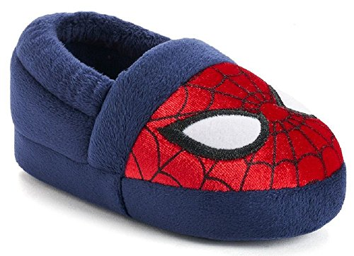 Marvel Avengers Spider-Man Kids A-Line Slippers (Large / 9-10 M US Toddler, Blue/Red)