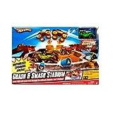 Hot Wheels Monster Jam Crash And Smash Stadium. Grave Digger 30th Anniversary Marked Box