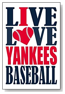 Live Love I Heart Yankees Baseball lined journal - any occasion gift idea for New York Yankees fans from WriteDrawDesign.com