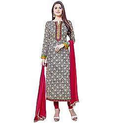 Shelina Women Beige Cotton Printed Salwar Suit
