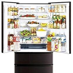 三菱 605L 6ドア冷蔵庫(ロイヤルウッド)MITSUBISHI 置けるスマート大容量 切れちゃう瞬冷凍 MR-JX61Y-RW