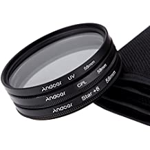 Alcoa Prime Andoer 58mm Filter Set UV + CPL + Star 8-Point Filter Kit With Case For Canon Nikon Sony DSLR Camera...