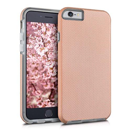 kalibri-Armor-Schutzhlle-fr-Apple-iPhone-6-6S-Hybrid-Dual-Layer-TPU-Silikon-Schale-und-PC-Case-in-Rosegold