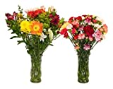 Half and Half Flower Bouquet - 2 Kinds of Fresh Cut Flower Bouquets - 50 Stems Total