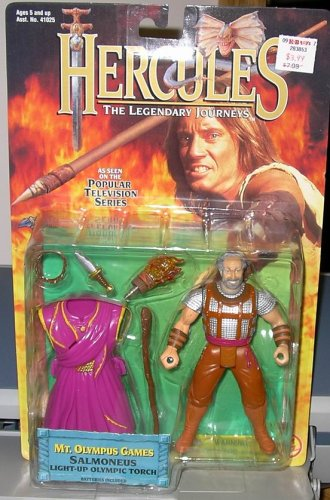 "HERCULES "" SALMONEUS"" MT. OLYMPUS GAMES w/ LIGHT UP OLYMPIC TORCH"